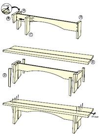 Enkel bänk ritning