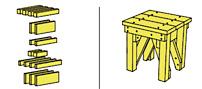 Ritningen till den här pallen, formgiven av Anton Alvarez hittar du här på Nysågat.se. Se länk nedan.